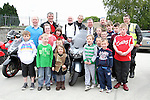 """Principal Michael Moley,  with Mayor Paul Bell and some of the Motorcyclists and children before the """"Run of the Country"""" Motorcycle fundraiser at St.Itas school...(Photo credit should read Jenny Matthews www.newsfile.ie)....This Picture has been sent you under the conditions enclosed by:.Newsfile Ltd..The Studio,.Millmount Abbey,.Drogheda,.Co Meath..Ireland..Tel: +353(0)41-9871240.Fax: +353(0)41-9871260.GSM: +353(0)86-2500958.email: pictures@newsfile.ie.www.newsfile.ie."""