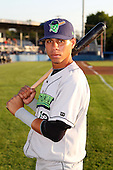 Jamestown Jammers Pedro Mendoza (12) during a game vs. the Batavia Muckdogs at Dwyer Stadium in Batavia, New York;  September 2nd, 2010.   Jamestown defeated Batavia 5-4.  Photo By Mike Janes/Four Seam Images