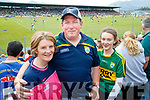 Kerry Fans at Fitzgerald Stadium Malachy, Con and Emma Kennedy, Dunmore Co Cork