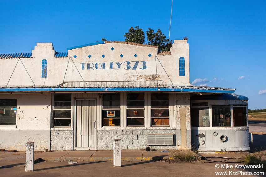 "Abandoned ""Trolly 373"" diner near Gordon, TX"