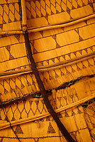 Agadez, Niger - Inside Ceiling of a Tuareg Shelter, Tent.  Lying on one's back on a Tuareg bed, this is the view overhead.