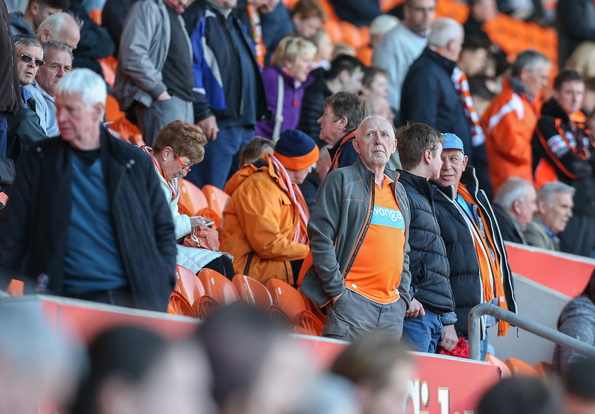 Blackpool fans soak up the atmosphere <br /> <br /> Photographer Alex Dodd/CameraSport<br /> <br /> The EFL Sky Bet League Two - Blackpool v Hartlepool United - Saturday 25th March 2017 - Bloomfield Road - Blackpool<br /> <br /> World Copyright &copy; 2017 CameraSport. All rights reserved. 43 Linden Ave. Countesthorpe. Leicester. England. LE8 5PG - Tel: +44 (0) 116 277 4147 - admin@camerasport.com - www.camerasport.com
