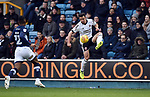 Enda Stevens of Sheffield United is challenged by Mahlon Romeo of Millwall during the championship match at The Den Stadium, Millwall. Picture date 2nd December 2017. Picture credit should read: Robin Parker/Sportimage