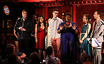 Current cast members during the 'Avenue Q' 15th Anniversary Reunion Concert at Feinstein's/54 Below on July 30, 2018 in New York City.
