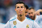 Cristiano Ronaldo of Real Madrid reacts after the Santiago Bernabeu Trophy 2017 match between Real Madrid and ACF Fiorentina at the Santiago Bernabeu Stadium on 23 August 2017 in Madrid, Spain. Photo by Diego Gonzalez / Power Sport Images