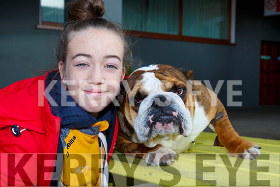 Katie O'Toole with Cuddles at the Legally Blonde auditions in the INEC on Saturday