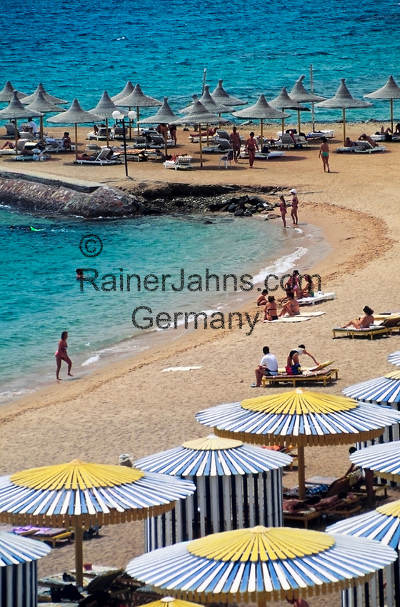 EGY, Aegypten, Hurghada: Beach Albatros Hotel, Strand | EGY, Egypt, Hurghada: Beach Albatros  Hotel, beach