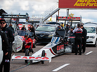 Feb 22, 2019; Chandler, AZ, USA; NHRA top fuel driver Billy Torrence during qualifying for the Arizona Nationals at Wild Horse Pass Motorsports Park. Mandatory Credit: Mark J. Rebilas-USA TODAY Sports