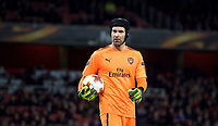 Goalkeeper Petr Cech of Arsenal during the UEFA Europa League QF 1st leg match between Arsenal and CSKA Moscow  at the Emirates Stadium, London, England on 5 April 2018. Photo by Andrew Aleksiejczuk / PRiME Media Images.