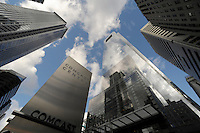 The Comcast Coprorate Headquarters building, the Comcast Center, center building, is shown here Thursday, Dec.3 ,2209 in Philadelphia, Pa. (Bradley C Bower/Bloomberg News)