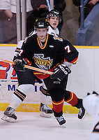 13 March 2004: Bill Downey (7). Johnstown Chiefs defeated the Wheeling Nailers 6-2 in ECHL action at the Cambria County War Memorial Arena in Johnstown, PA...