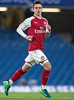 Robbie Thompson of Arsenal U18 during the FA Youth Cup FINAL 1st leg match between Chelsea U18 and Arsenal U18 at Stamford Bridge, London, England on 27 April 2018. Photo by Andy Rowland.