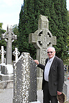 Fr Michael Hickey on front of the Murdock Cross at Monasterboice, Co.Louth...(Photo credit should read Jenny Matthews www.newsfile.ie)....This Picture has been sent you under the conditions enclosed by:.Newsfile Ltd..The Studio,.Millmount Abbey,.Drogheda,.Co Meath..Ireland..Tel: +353(0)41-9871240.Fax: +353(0)41-9871260.GSM: +353(0)86-2500958.email: pictures@newsfile.ie.www.newsfile.ie.