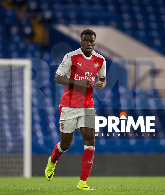 Stephy Mavididi of Arsenal during the EPL2 - U23 - Premier League 2 match between Chelsea and Arsenal at Stamford Bridge, London, England on 23 September 2016. Photo by Andy Rowland.