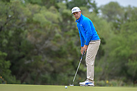 Ben Crane (USA) watches his putt on 9 during Round 2 of the Valero Texas Open, AT&amp;T Oaks Course, TPC San Antonio, San Antonio, Texas, USA. 4/20/2018.<br /> Picture: Golffile | Ken Murray<br /> <br /> <br /> All photo usage must carry mandatory copyright credit (&copy; Golffile | Ken Murray)
