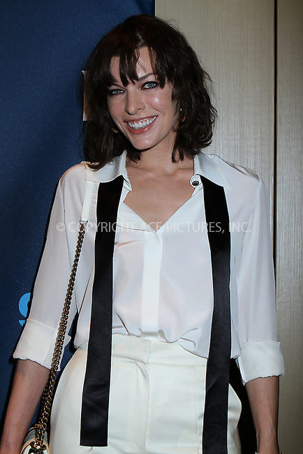 WWW.ACEPIXS.COM....March 16 2013, New York City....Milla Jovovich  arriving at the 24th annual GLAAD Media awards at The New York Marriott Marquis on March 16, 2013 in New York City.....By Line: Nancy Rivera/ACE Pictures......ACE Pictures, Inc...tel: 646 769 0430..Email: info@acepixs.com..www.acepixs.com