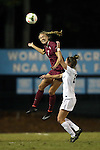 23 October 2014: Florida State's Dagny Brynjarsdottir (ISL) (7) and North Carolina's Joanna Boyles (right). The University of North Carolina Tar Heels hosted the Florida State University Seminoles at Fetzer Field in Chapel Hill, NC in a 2014 NCAA Division I Women's Soccer match. The game ended in a 1-1 tie after double overtime.