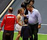 Aleksandra Krunic , Slobodan Boba Zivojinovic Fed Cup Serbia vs Canada, World group II, first round, Novi Sad, Serbia, SPENS Sports Center, Sunday, February 06, 2011. (photo: Srdjan Stevanovic)(credit image & photo: Pedja Milosavljevic / +381 64 1260 959 / thepedja@gmail.com )