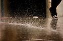 20070324 - Barcelona (Spain) - Rain splattering in the floor. © BERNAL REVERT