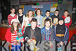 Winners and runners-up from Colaiste na Sceilge first years who took part in World Book Day and dressed up as fictional characters pictured here front l-r; Orla Coffey, Padraic Fitzpatrick, Luke Cournane, Rachel Mangan, back l-r; Róisín O'Shea, Aoíbhín Collins, Hannah O'Leary, Aiofe Daly, Gavan da Silva, Rory Galvin & Gareth Evans.