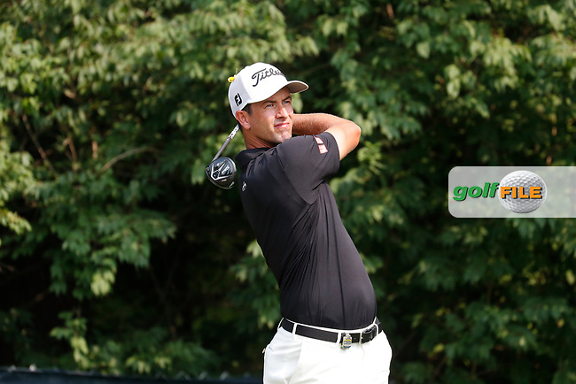 Adam Scott (AUS) tees off on the 9th hole during the final round of the 100th PGA Championship at Bellerive Country Club, St. Louis, Missouri, USA. 8/12/2018.<br /> Picture: Golffile.ie | Brian Spurlock<br /> <br /> All photo usage must carry mandatory copyright credit (© Golffile | Brian Spurlock)