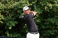 Adam Scott (AUS) tees off on the 9th hole during the final round of the 100th PGA Championship at Bellerive Country Club, St. Louis, Missouri, USA. 8/12/2018.<br /> Picture: Golffile.ie | Brian Spurlock<br /> <br /> All photo usage must carry mandatory copyright credit (&copy; Golffile | Brian Spurlock)