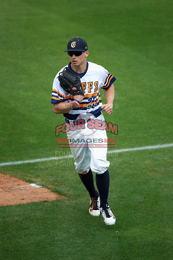 Canisius College Golden Griffins center fielder John Conti (23) during the first game of a doubleheader against the Michigan Wolverines on February 20, 2016 at Tradition Field in St. Lucie, Florida.  Michigan defeated Canisius 6-2.  (Mike Janes/Four Seam Images)