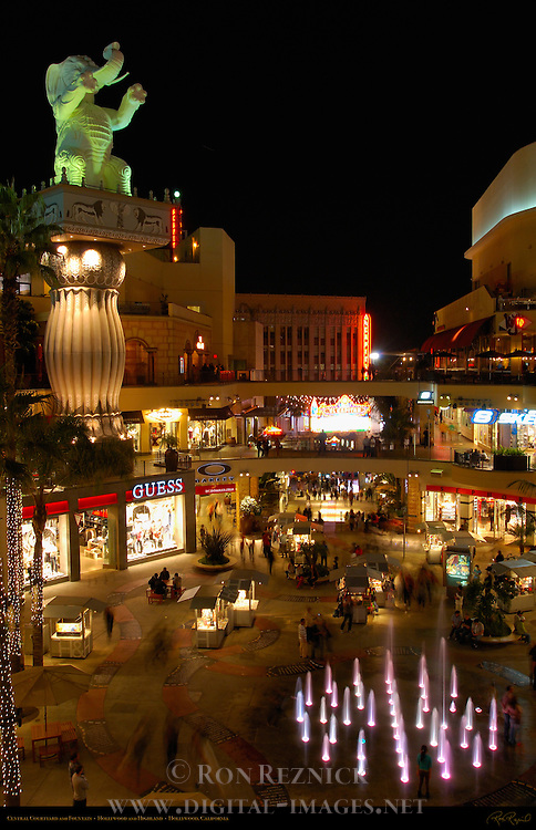 Central Courtyard and Fountain, Hollywood and Highland, Hollywood, California
