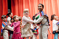 Melrose Leadership Academy students perform during the 2011 WInter Expo. MLA provides Spanish immersion instruction; the school is part of Oakland Unified School District.