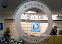 Wycombe Wanderers new Reception / Shop area during the Friendly match between Wycombe Wanderers and Leeds United at Adams Park, High Wycombe, England on 13 November 2015. Photo by Andy Rowland.