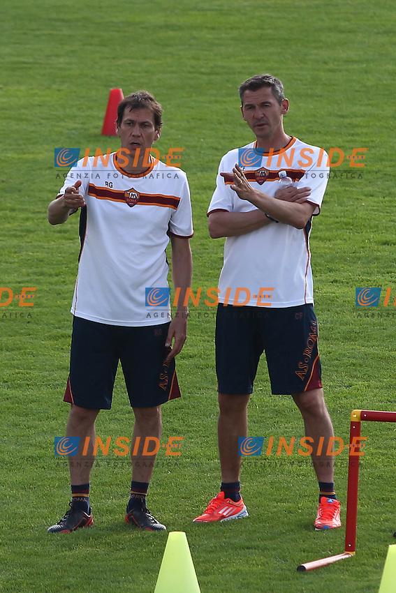 Rudi Garcia e Claude Fichaux <br /> Riscone (Brunico) 13.7.2013 <br /> Football Calcio 2013/2014 Serie A<br /> Ritiro precampionato AS Roma <br /> As Roma pre season training<br /> Foto Gino Mancini / Insidefoto