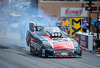 Jul 21, 2019; Morrison, CO, USA; NHRA funny car driver Cruz Pedregon during the Mile High Nationals at Bandimere Speedway. Mandatory Credit: Mark J. Rebilas-USA TODAY Sports