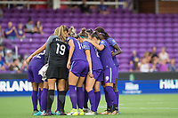 Orlando, FL - Tuesday August 08, 2017: Orlando Pride  during a regular season National Women's Soccer League (NWSL) match between the Orlando Pride and the Chicago Red Stars at Orlando City Stadium.