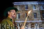 Brendan Collins, pictured at the Remembrance of Thomas Ashe torchlight parade in Ashe Street, on Monday night last.