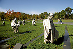 DC: Washington, DC Monuments, Korean War Veterans Memorial        .Photo Copyright Lee Foster, lee@fostertravel.com, www.fostertravel.com, (510) 549-2202.Image washdc220