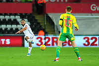 Cameron Carter-Vickers of Swansea City in action during the Sky Bet Championship match between Swansea City and West Bromwich Albion at the Liberty Stadium in Swansea, Wales, UK. Wednesday 28 November 2018