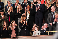 FEBRUARY 5, 2019 - WASHINGTON, DC: First Lady Melania Trump and guest Grace Eline during the State of the Union address at the Capitol in Washington, DC on February 5, 2019. <br /> CAP/MPI/RS<br /> &copy;RS/MPI/Capital Pictures