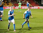 St Johnstone v Rangers&hellip;13.10.17&hellip;  McDiarmid Park&hellip;  SPFL<br />The saints mascots<br />Picture by Graeme Hart. <br />Copyright Perthshire Picture Agency<br />Tel: 01738 623350  Mobile: 07990 594431