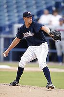 July 10, 2009:  Pitcher Ryan Zink of the Tampa Yankees during a game at George M. Steinbrenner Field in Tampa, FL.  Tampa is the Florida State League High-A affiliate of the New York Yankees.  Photo By Mike Janes/Four Seam Images