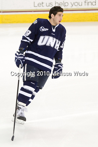 Phil DeSimone (UNH - 39) - The Boston College Eagles celebrated senior night by defeating the University of New Hampshire Wildcats 3-2 on Saturday, March 6, 2010, at Conte Forum in Chestnut Hill, Massachusetts.