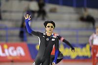SCHAATSEN: Calgary: Essent ISU World Sprint Speedskating Championships, 28-01-2012, 500m Heren, Kyou-Hyuk Lee (KOR), ©foto Martin de Jong
