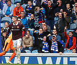 Kyle Lafferty enjoying the affections of the Rangers fans