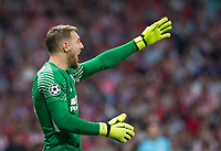 Atletico Madrid's Slovenian goalkeeper Jan Oblak during the UEFA Champions League group C match between Atletico Madrid and Chelsea played at the Wanda Metropolitano Stadium in Madrid, on September 27th 2017.