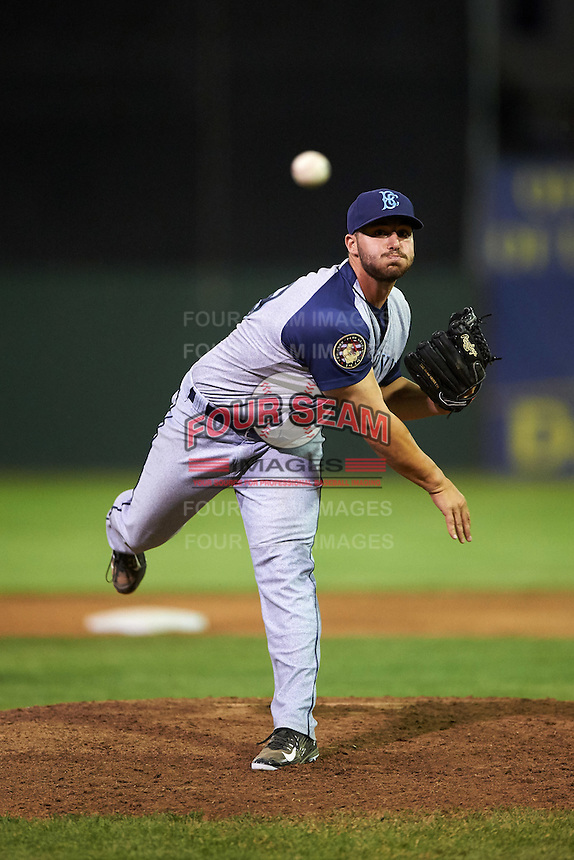 Brooklyn Cyclones relief pitcher Joseph Zanghi (39) during a game against the Batavia Muckdogs on July 6, 2016 at Dwyer Stadium in Batavia, New York.  Batavia defeated Brooklyn 15-2.  (Mike Janes/Four Seam Images)