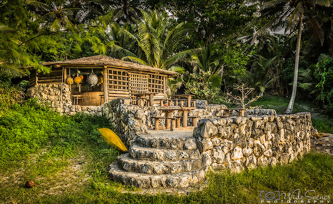 Golden Hour at the Washaway Bar & Cafe on the small Pacific Island of Niue. Only open on Sundays.