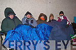 ENROLMENT: Outside Mercy Mounthawk School, Sunday night some parents from the locality who waited from 7.30pm on a very cold Sunday evening until Monday morning to enrol their children into the school for 2009 were l-r: Brian Moriarty, Lisa Sinnott, Joan Aherne, Mary Connolly and Anna Mason.   Copyright Kerry's Eye 2008