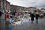 BRUSSELS - BELGIUM - 08 JANUARY 2012 -- Marolles the bohemian city part of Brussels. -- The most famous flee-market of Brussels on Place Jeu de Balle. -- PHOTO: Juha ROININEN /  EUP-IMAGES