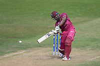 Andre Russell (West Indies) powers down the ground to bring up his half century during West Indies vs New Zealand, ICC World Cup Warm-Up Match Cricket at the Bristol County Ground on 28th May 2019