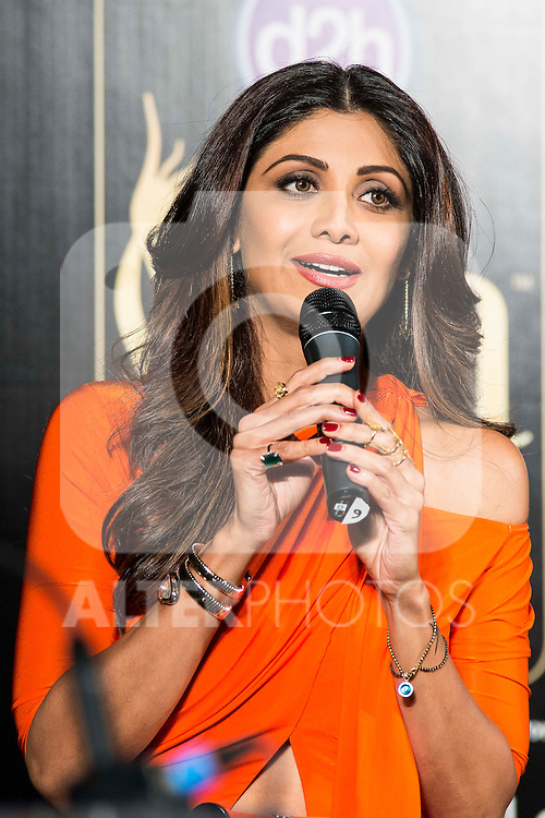 Indian actress Shilpa Shetty during the presentation of the IIFA Awards in Madrid. June 23, 2016. (ALTERPHOTOS/BorjaB.Hojas)