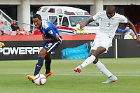 Santiago, Chile - Saturday, October 17, 2015: The USMNT U-17 bow to Nigeria 0-2 in their first round game during the 2015 FIFA U-17 World Cup at Stadium Nacional Julio Martínez Prádanos.